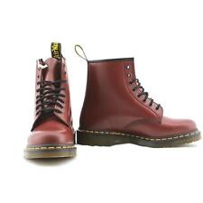 Dr. Martens 1460 stivaletto anfibio donna in pelle bordeaux cherry rouge 8 buchi