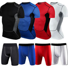 Men's Compression Under Base Layer T-Shirt Top Shorts Pants Athletic Sports Gear