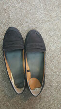 Trashed Well Worn Women's Black Ballet Shoes Work Pumps Flat Lawyer Solicitor 5