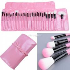32 Pcs Trucco Cosmetici Pennelli Make Up Brush Set con Rosa Borsa Nuovo SA88
