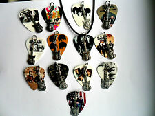 THE BEATLES Guitar Pick // Plectrum and Guitar Charm  Necklace  13 to Choose