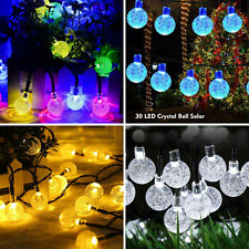 Solar Outdoor String Lights Powered 30 LED Multi-Color Globe Fairy Christmas