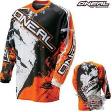 ONEAL ELEMENT SHOCKER KINDER ORANGE CROSS SHIRT JERSEY TRIKOT BMX DH MTB FR MX
