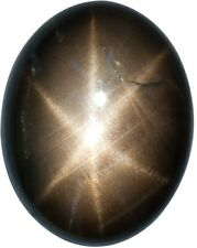 Natural Fine Black Star Sapphire - Oval Cabochon - AAA Grade - Unheated, Untreat
