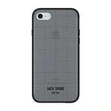 JACK SPADE Cell Phone Case for Apple iPhone 7 - Graphic Check/Smoke Grey