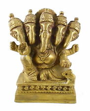 BEAUTIFUL BRASS IDOL OF PANCHAMUKHI GANESH