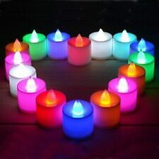 Colour Changing Set Of 12 Flameless Tea Light Led Candle with Replacable Battery