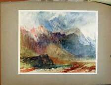 Old Antique Print Plate Xliii In The Val Daosta Passing Shower Turners 088411