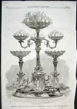 Old Antique Print Silver Table Pieces 1862 Richard Spooner 06AAA0