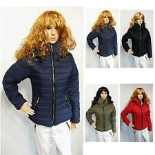 Womens Ladies Quilted Padded Puffer Bubble Thick Warm Jacket Coat Brand new