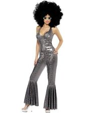 Disco DivaFancy Dress Costume Ladies Silver 60s and 70s Costumes