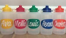 1 X PERSONALISED CLEAR ANY NAME SCHOOL/SPORTS BOTTLE- BPA  FREE 500ML (BCL5)