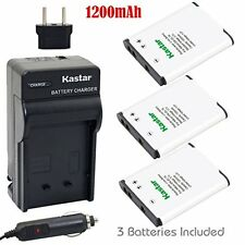 Kastar EN-EL19 Battery(3 X) and Charger Kit for Nikon Coolpix S32 S100 S2...
