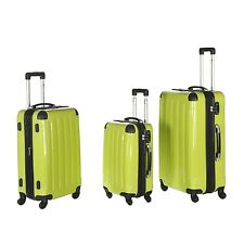 IMEX Hard shell Suitcase Trolley in green with TSA Lock in different sizes