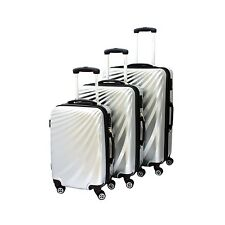 VIVIANA Hard shell Suitcase Trolley in silver with TSA Castle in various Gr