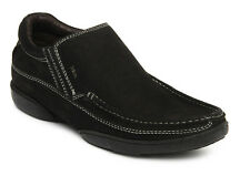 Lee Cooper Men BLACK Green Leather Casual Shoes - lc1586