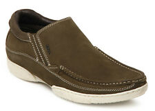 Lee Cooper Men OLIVE Green Leather Casual Shoes - lc1586
