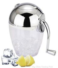 Manuel Ice Crusher Chrome Plated Hand Held Ice Crusher & Handle Boxed.