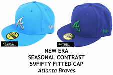 NEW ERA SEASONAL CONTRAST MLB 59FIFTY FITTED CAP - ATLANTA BRAVES