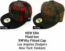 NEW ERA PLAID-TON MLB 59FIFTY FITTED CAP - DODGERS/YANKEES