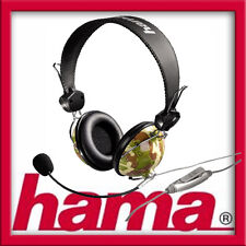Hama PC-Headset HS-10 Camouflage im Army-Style Stereo für Gaming VoiP Skype
