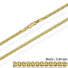 Goldkette Panzerkette Massiv Gold 585 14K Halskette Herren Damen 40 60 cm 2,4mm
