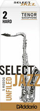 D'Addario 5 PACK Select Jazz Tenor Saxophone Reeds Unfiled CHOOSE YOUR STRENGTH!