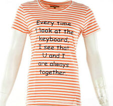 ARAN Trend Womens Printed T-Shirts|Half sleeve |Size:S,M,L,XL color:white orange