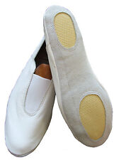 Leather Gymnastic training dance shoes white or black indoor wear all sizes