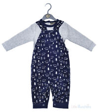 Baby Boys Top & Lined, Cord Dungaree Outfit (0-9 Months)