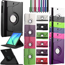 360 Rotation Flip PU Leather Smart Stand Case Cover For Samsung Galaxy Tablet