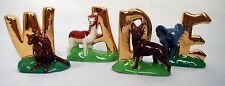 Wade Whimsies Various ALPHABET Letters - Animal Figures - GOLD EDITION - Wade