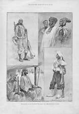 Old Antique Print Sofa Chief Colonial Siers West Africa 1894 069A176