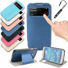 S View Smart PU Plastic Fitted Case Cover for Samsung Galaxy S4 i9500 i9505
