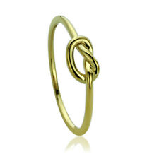 Women Fine band 5mm 14K Yellow Gold Wedding Plain Celtic Love Knot Promise Ring