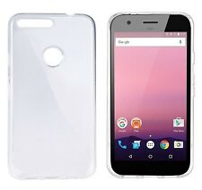 Google Pixel XL Clear Gel Case Plus Glass Screen Protector