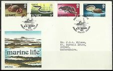 Crab EEL Lobster Oyster Marine Life Jersey FDC  first day cover ocean wild life