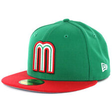"New Era 59FIFTY Hat World Baseball Classic ""WBC17 Mexico"" (KG-RD) Fitted Hat Cap"