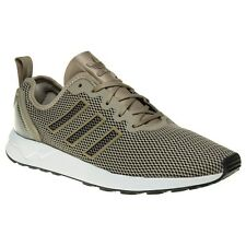 New Mens adidas Taupe Zx Flux Adv Nylon Trainers Retro Lace Up