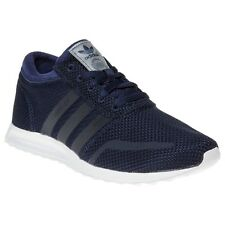 New Boys adidas Blue Los Angeles Textile Trainers Retro Lace Up