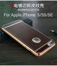 *Luxury*TPU LEATHER*Soft Back Cover Case For  APPLE iPhone 5 / 5S & SE *