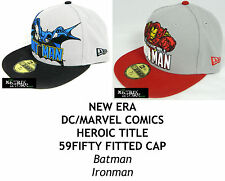 NEW ERA DC/MARVEL COMICS HEROIC TITLE 59FIFTY FITTED CAP - ASSORTED CHARACTERS
