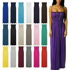 New Womens Ladies Plus Size Boob Tube Sheering Long Bandeau Summer Maxi Dress