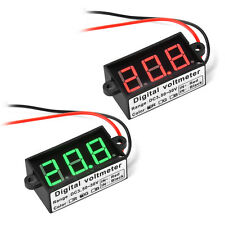 "0.56"" Green/Red LED Waterproof Digital Voltmeter DC 12V/24V Voltage Volt Panel"