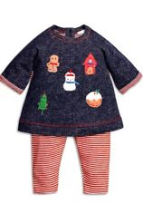 Next Christmas Baby 2 Pieces Set Tunic and Leggings Cotton Size 3-6,6-9,9-12mths