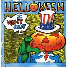 """HELLOWEEN I Want Out 12"""" MAXI VINYL 3 Track B/w Save Us And Don't Run For Cover"""