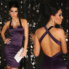 Purple evening business evening halter neck dress sizes 8,12, 14, 16.