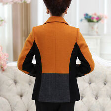 Mother fitted with autumn coat wool middle-aged women's Slim short paragraph in