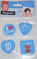4x One Direction 1D Magnets Harry, Liam, Louis, Niall and Zayn + free gift