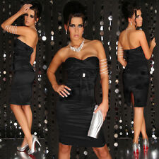 Pink or black strapless clubwear satin dress sizes 6.